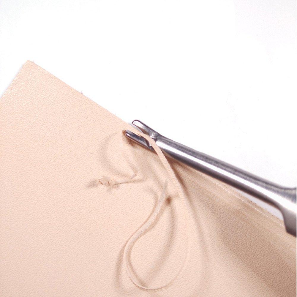 Hyamass 4pcs U V Shaped Stitching Groover DIY Craft Tool Working Hand Leather Edge Skiving Leathercraft Tool Kit