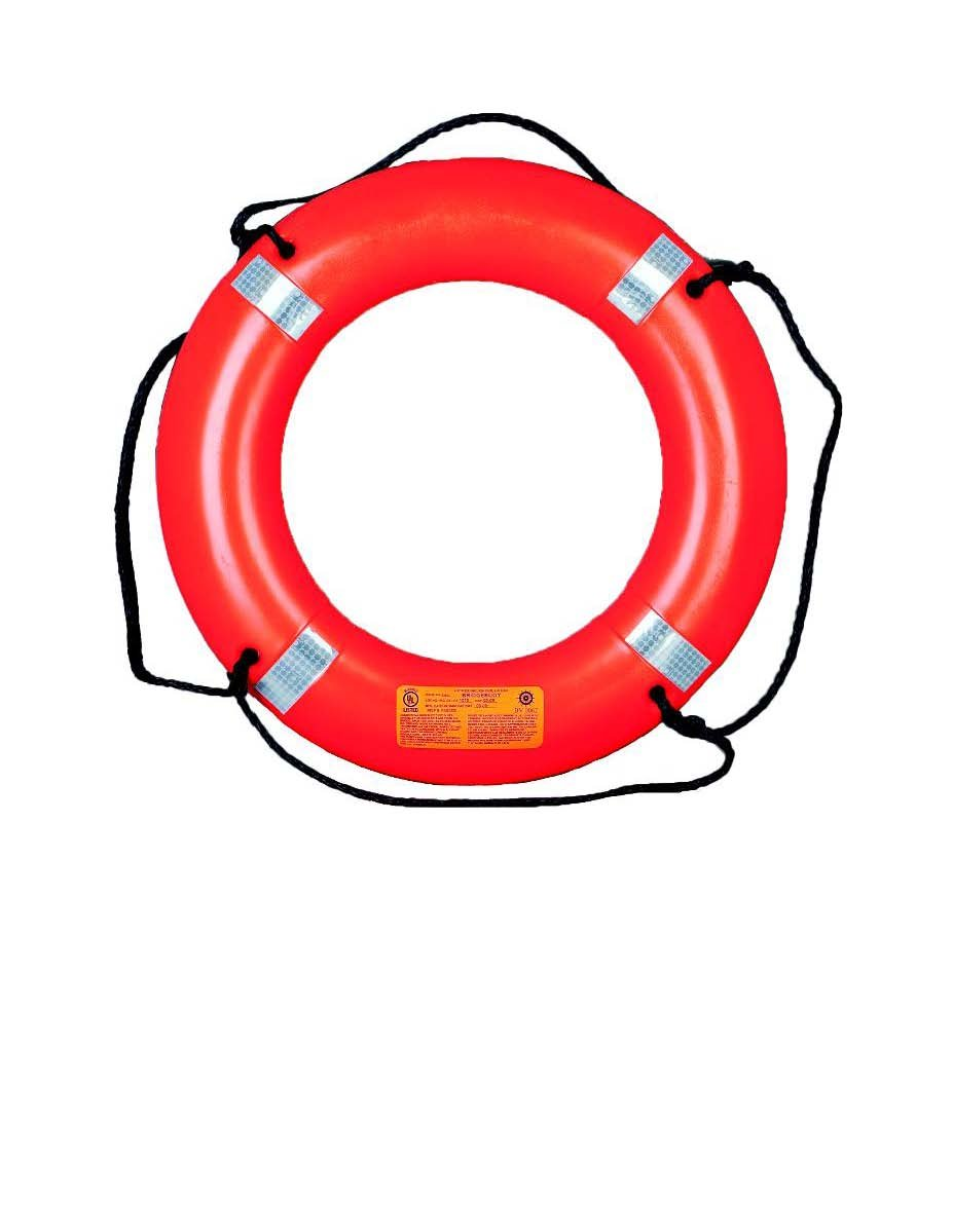 Mustang 30-inch Ring Buoy, 4kg, Orange by Mustang