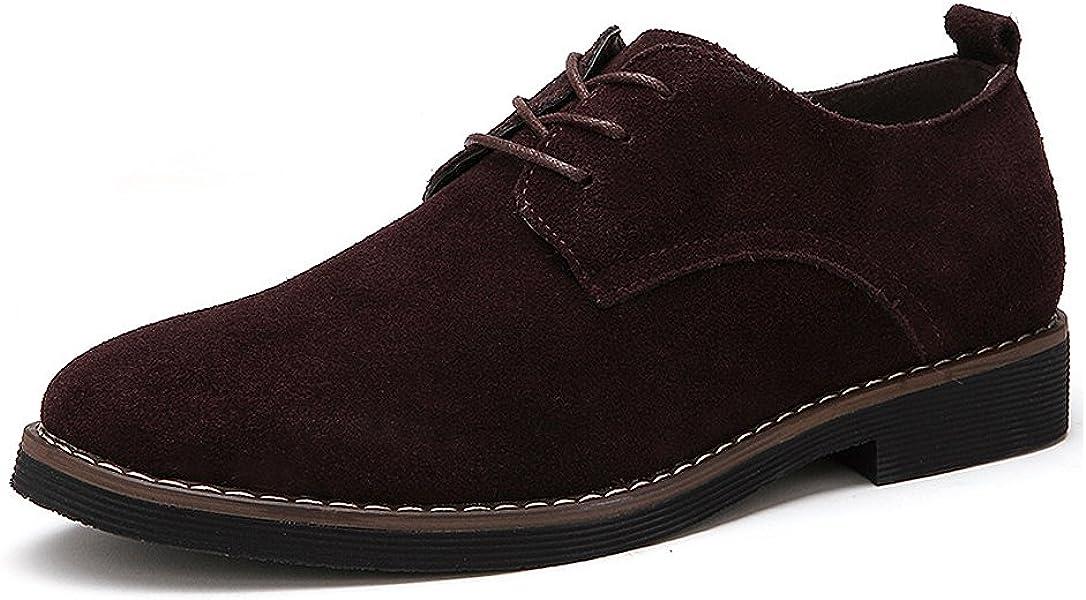 783d7f517 CCZZ Zapatos de cordones de ante para hombre Zapatos de Cuero Casual Oxford