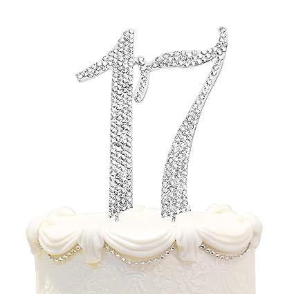 Amazon Hatcher Lee Bling Crystal Rhinestone 17 Birthday Cake