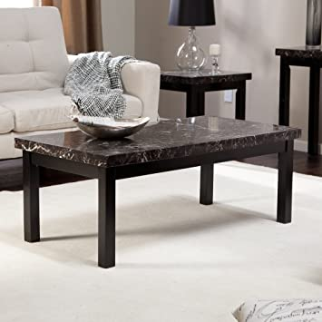 Lovely Galassia Faux Marble Coffee Table