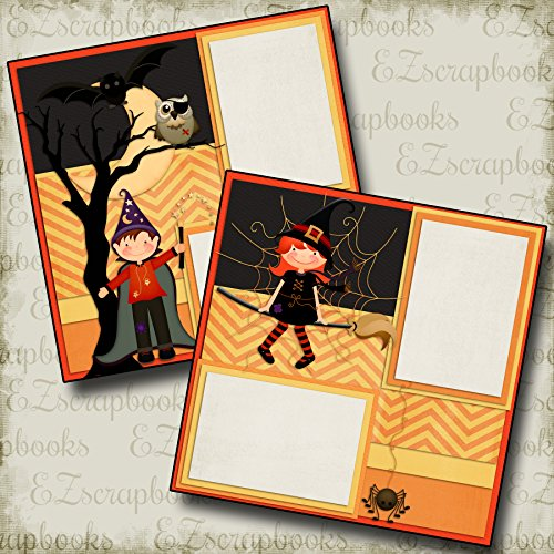 KIDS OF HALLOWEEN - Premade Scrapbook Pages - EZ Layout 352 for $<!--$4.99-->