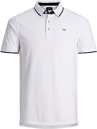 JACK & JONES Luxury Fashion Hombre 12143859WHITE Blanco Polo ...