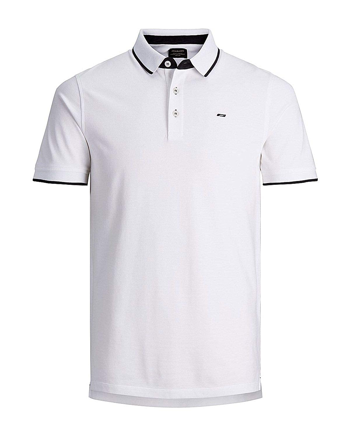 JACK & JONES Luxury Fashion Hombre 12143859WHITE Blanco Polo ...