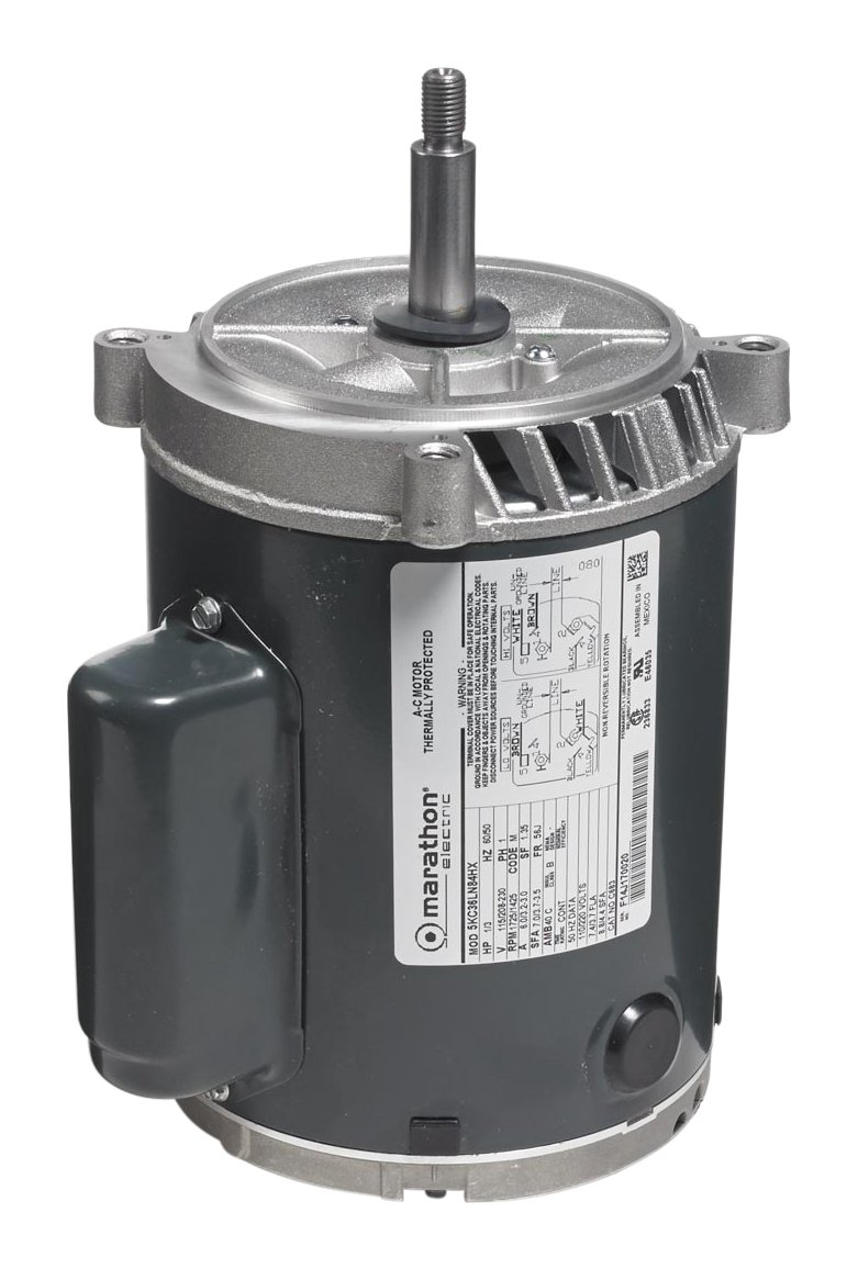 Marathon 5KC39RN114T Jet Pump Motor, 1 Phase, Open Drip Proof, C-Face, Ball Bearing, 3/4 hp, 2900 RPM, 1 Speed, 110/220 VAC, 56C Frame, Capacitor Start