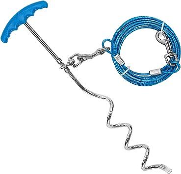 Petphabt - Cable de Amarre para Perro (6 m, con estaca en Espiral ...