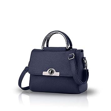 313cf0ef64e4d Nicole Doris neue Tasche Damenmode Handtaschen Mini Schulterkurierbeutel  Frauengeldbeutel(Deep Blue)