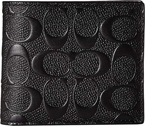 COACH Men s 3-in-1 Wallet in Signature Crossgrain Black One Size