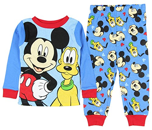 Mickey Mouse And Pluto Little Boys' Toddler Cotton Pajama Set (3T)