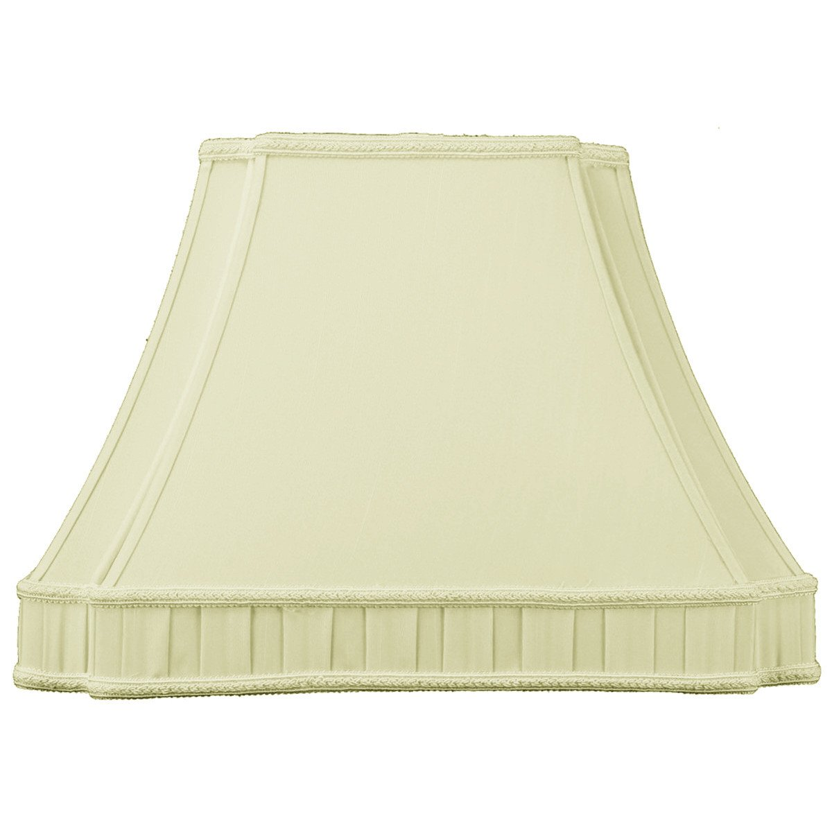 7x15x12 Eggshell Lampshade with Off White Liner with Brass Spider Fitter By Home Concept - Perfect for small table lamps, desk lamps, and accent lights - Medium,Egg Shell