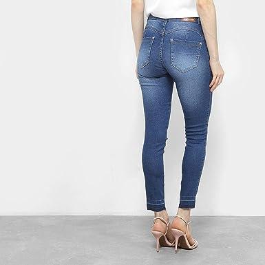 a92ffda7e Calça Jeans Skinny Biotipo Estonada Cintura Alta Feminina  Amazon ...