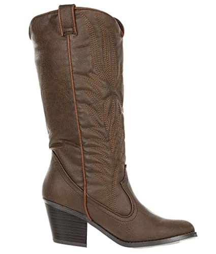 Women's Embroidered Western Cowboy Knee High Boot Muse-64