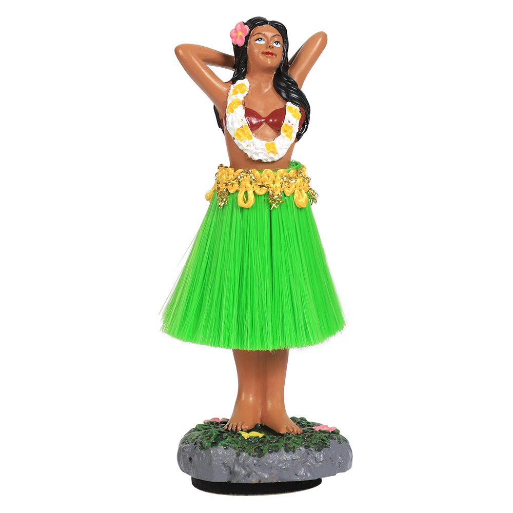 Dashboard Hula Girl,Colorful Lei with WELCOME dancing Hula girl dolls -4.5