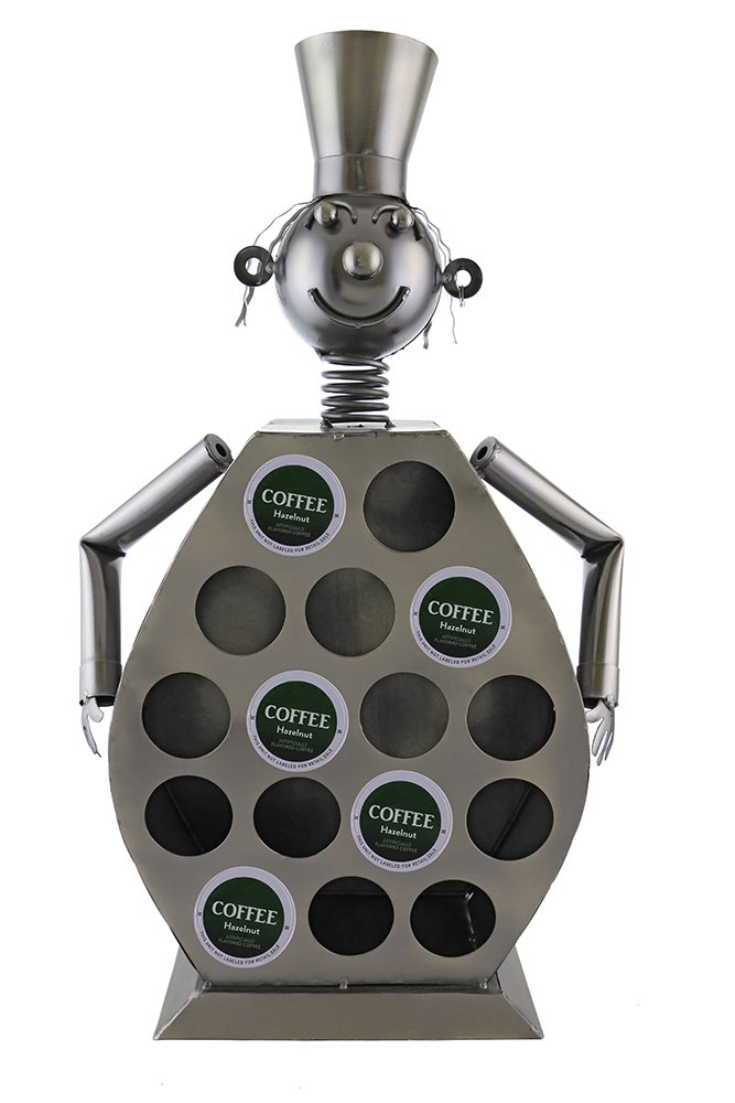 Atlantic Collectibles Large Professional Chef Kitchen Coffee Capsule Pod K-Cup Holder 20''H Hand Made Steel Caddy Rack by Atlantic