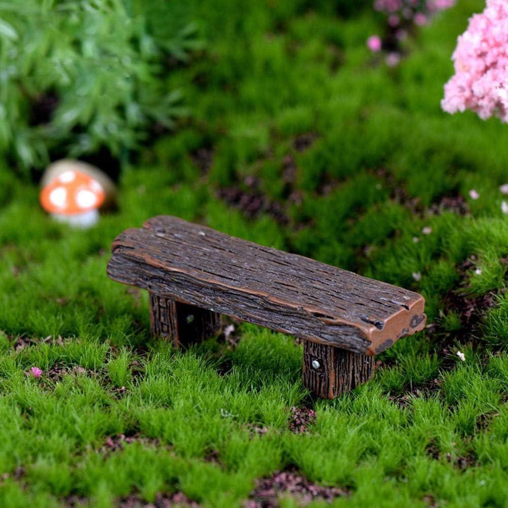 AMOYER 3pcs Banchi Miniatura Fairy Garden Bonsai Ornamenti Decorazione del Dollhouse per La Decorazione Domestica Accessori Colore Casuale
