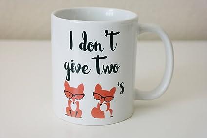 Amazon I Dont Give Two Foxes Coffee Mug