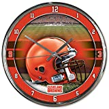 "NFL Cleveland Browns Chrome Clock, 12"" x 12"""