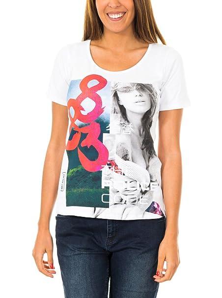 883 Police Camiseta Manga Corta Bushido Instagram Blanco XL: Amazon.es: Ropa y accesorios