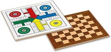 Cayro - Tablero Parchís y Ajedrez de Madera - Juego de Tradicional - Juego de Mesa - Desarrollo de Habilidades cognitivas - Juego de Mesa (T-139): Amazon.es: Juguetes y juegos