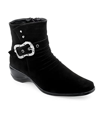 48085612754 SHUZ TOUCH black BOOTS  Buy Online at Low Prices in India - Amazon.in