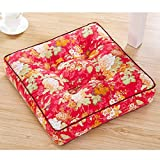 RXIN Fmaily Portable Living room Seat Cushion Chair/Sofa Back Cushion Super Soft Table Back Pillows Square Meditation Cushion