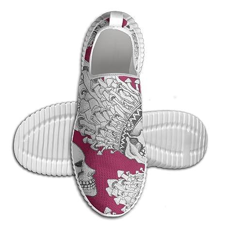 Mushroom Skull Men Anti-Slip Shoes Fashion Mesh Walking Sneakers