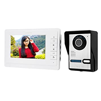 Smartlife 7 Inches Digital HD Wired Doorbell Camera Video Intercom Door Phone System Wide Angle Peephole  sc 1 st  Amazon.com & Amazon.com : Smartlife 7 Inches Digital HD Wired Doorbell Camera ...