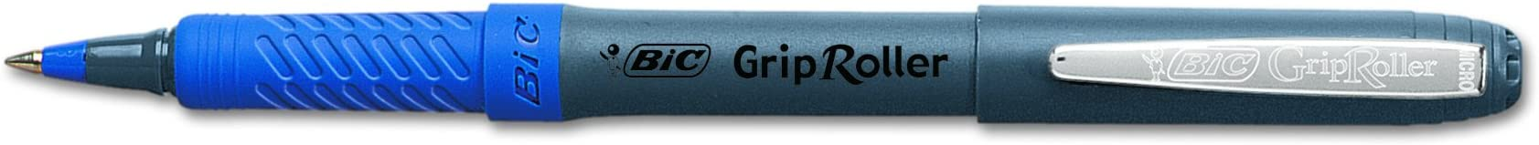 BIC Grip Roller Micro Bolografo, 12 piezas, azul