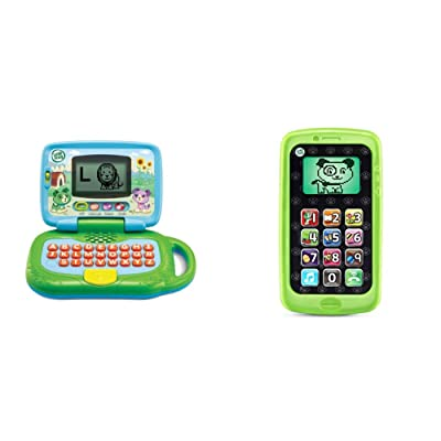 LeapFrog My Own Leaptop (Frustration Free Packaging) & Chat and Count Smart Phone, Scout, Green: Toys & Games