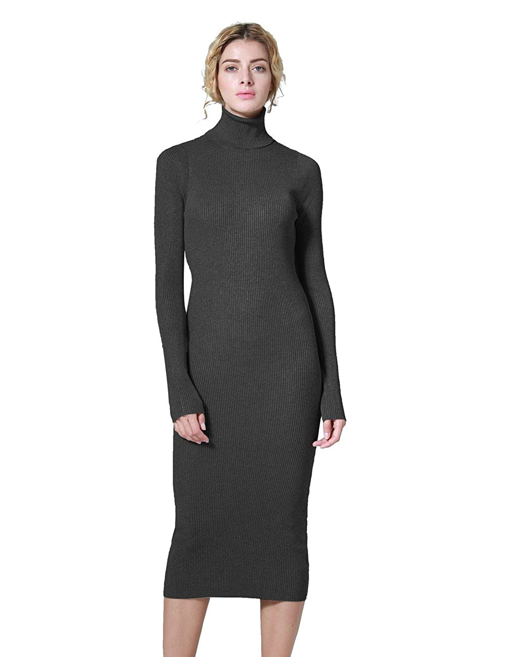 08b41054 ninovino Women's Ribbed Knit Long Sleeve Slim Fit Sweater Dress: Amazon.ca:  Clothing & Accessories