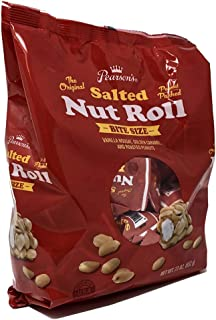 product image for Pearson's Bite-Size Salted Nut Roll | Loaded with Crunchy Roasted Peanuts, Golden Caramel, and Chewy Nougat | 23 oz. Bag containing Bite Size Salted Nut Roll Bars