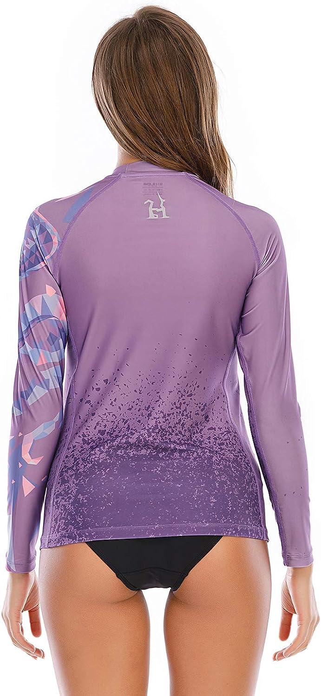 Swimwear Shirts Beast Series Quick Dry Swimsuit Top Rash Vest HUGE SPORTS Womens Rash Guard Long Sleeve Sun Protection UPF 50