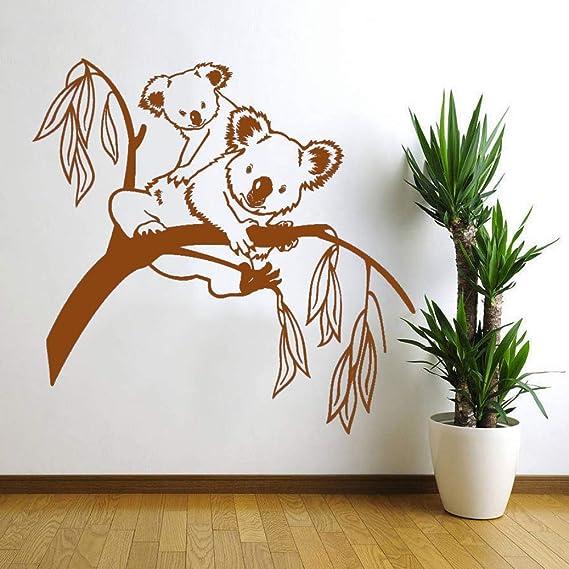 guijiumai Vinilo Tatuajes de Pared Árbol Oso Lindo Animal Art ...