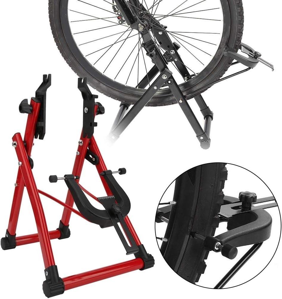 Aluprey Aleación de Aluminio Rojo Simple Conveniente Rueda de Bicicleta truing Soporte Inicio de reparación de Bicicletas de Soporte de Mantenimiento de Accesorios ...