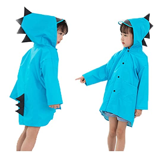 d396e0e0 Image Unavailable. Image not available for. Color: Greenery-GRE Toddler  Kids Raincoat with Hood Cartoon Dinasour Rainwear Waterproof Rain Poncho  Jacket for