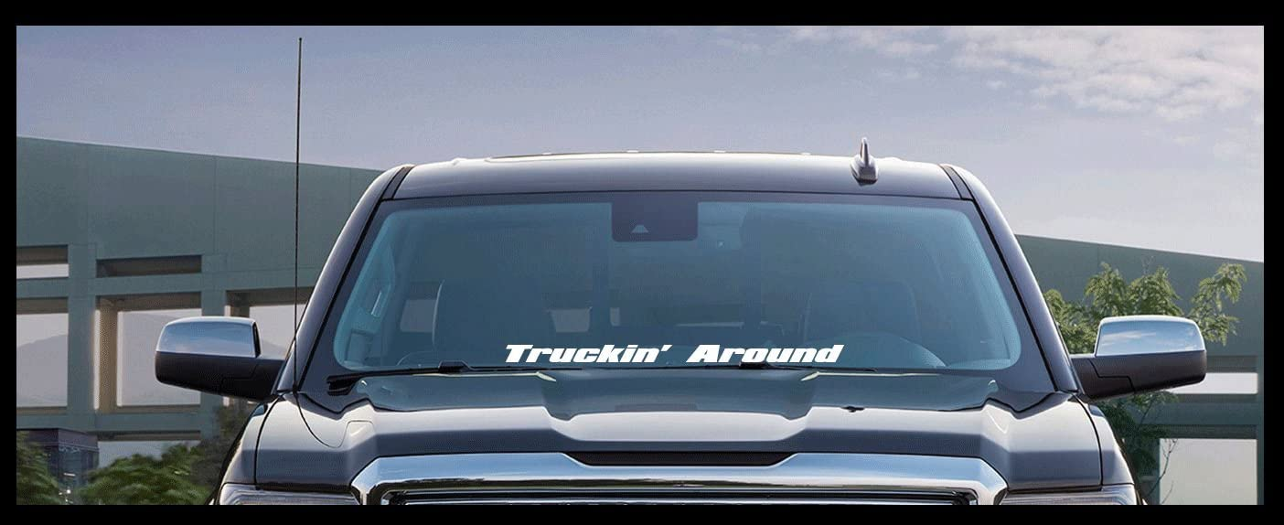 TRUCKIN DECAL FOR DODGE FORD CHEVY  PICKUP TRUCK TRUCKING VINYL STICKER