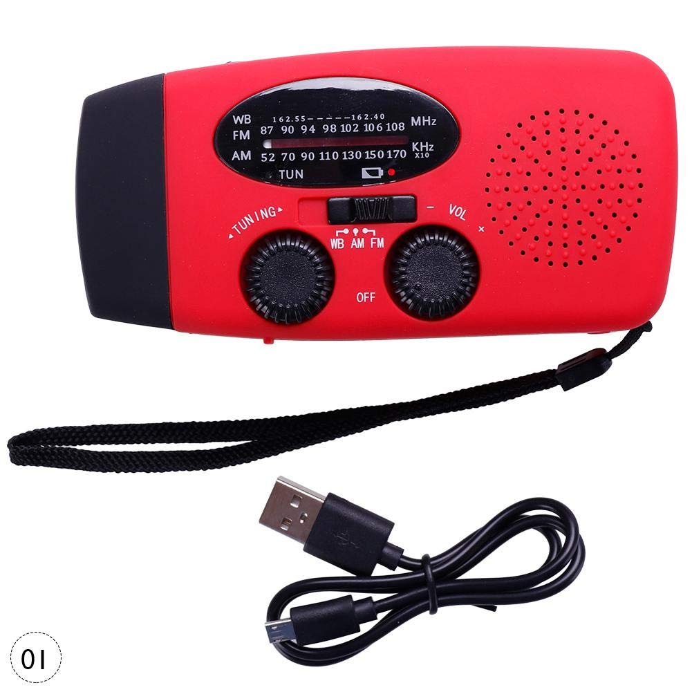 RUNGAO Linterna de Carga USB Multifuncional con energí a Solar LED y Reproductor de Radio al Aire Libre