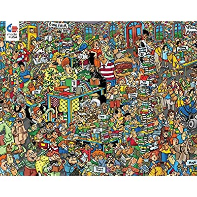 Jan Van Haasteren Comic Crowds Collection Book Fair Puzzle - 750Piece: Toys & Games