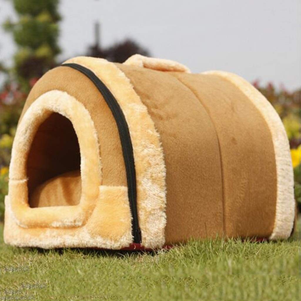 S RMJAI Pet Tent Pet Nest Cozy Cave Pet Bed Short Plush Pet Sofa for Small Cats and Small Dogs Small Animal Beds (Size   S)