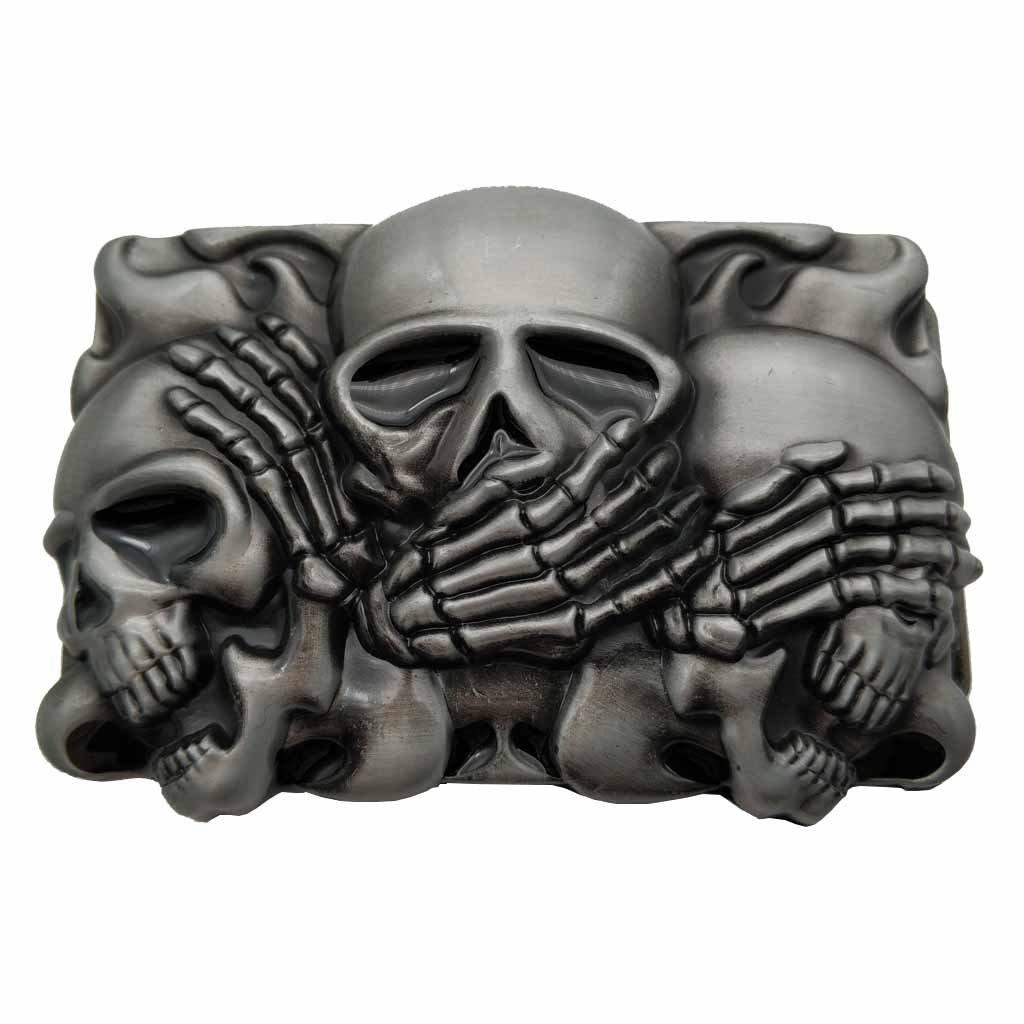 YONE Rock Punk Skull Belt Buckle Gürtelschnallen