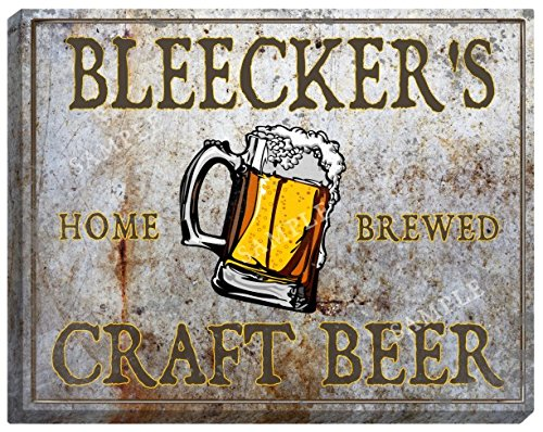 BLEECKER'S Craft Beer Stretched Canvas Sign - 24
