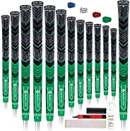 SAPLIZE Golf Grips Standard/Midsize Set of 13 with 15 Tapes or 13 Grips with Complete Regripping Kit All Weath