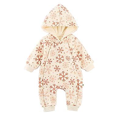 eb91c93e124 Famuka Baby Girls Romper Boys Winter Warm Jumpsuit Snowflake  Amazon.co.uk   Clothing