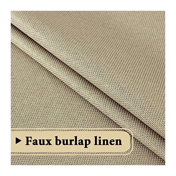 """H.VERSAILTEX Room Darkening Linen Curtain for Sliding Door (100"""" W x 96"""" L) Extra Wide Primitive Burlap Textured Linen Room Divider Curtain for Living Room/Patio (8ft Tall by 8.5ft Wide, Beige) - STANDARD SIZE: Sold per single panel, measures: 100 inch width by 96 inch length. Each panel has 16 antique copper grommets (rim of grommet is 2.4"""", while inner is 1.6""""), can be hung from a basic or decorative curtain rod ELEGANT BURLAP QUALITY: This classic wide curtain is made of rich faux linen fabric with natural blackout features, thick and heavy duty make the draperies more durable and long lasting, burlap effect will bring more vintage and graceful look to your window and room MULTIPLE FUNCTIONS: This extra wider panel can block out sunlight to control the light and balance the temperature in your rooms, high performance on thermal insulated, room darkening, energy efficient, noise reducing and privacy protecting - living-room-soft-furnishings, living-room, draperies-curtains-shades - 61gkSYOReEL. SS570  -"""