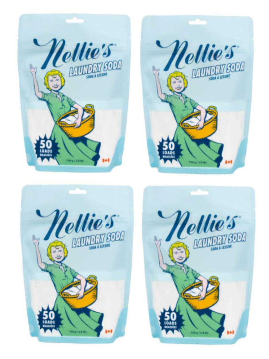 Nellie's Laundry Soda, 50 Load Bag (Pack of 4) by Nellie's
