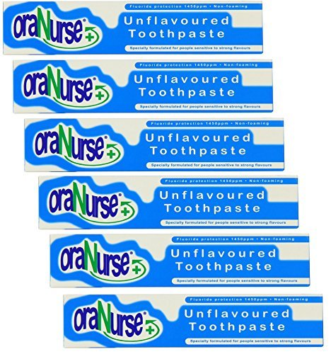 Oranurse 50ml Unflavoured Toothpaste (Pack of 6) by Oranurse