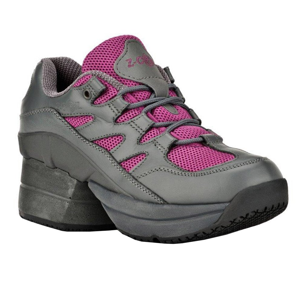 Z-CoiL Women's Freedom Slip Resistant Enclosed CoiL Fuchsia Leather Tennis Shoe 9 C/D US