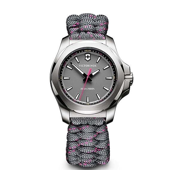 Victorinox Reloj Digital de Cuarzo para Mujer con Correa de Tela - 241771: Amazon.es: Relojes