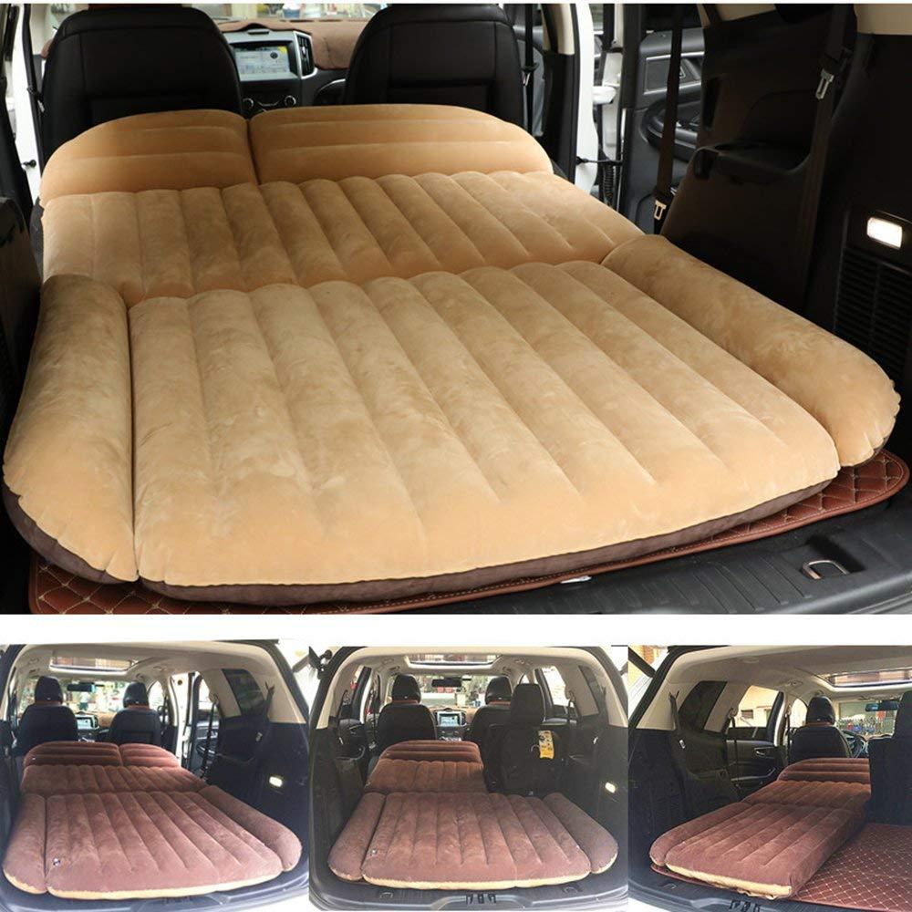 Sinbide Abziehbar Auto Luftmatratzen Luftbett Camping Matratze aufblasbar Isomatte Auto SUV MVP mit Pumpe