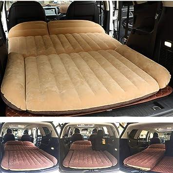 Sinbide Colchón Inflable para Coche Cama Air de Auto SUV Viaje Camping Senderismo Cama Hinchable de Coche Ideal para Movimiento íntimo Descanso Sueño ...